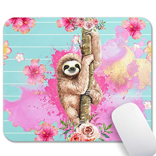 Mechanical Cattle Mouse Pad Blue Aloth Climbing Tree Watercolor Pink Anime Custom ,Mousepad Anti-Slip Rubber Mouse Mat Gaming Office Laptop Computer PC Men Women Kids Mouse pad