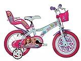 Dino Bikes- Vélo Fille sous Licence Barbie 14 Pouces-4 à 6 Ans, 146 R-BAB