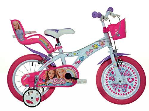 Dino Bikes Vélo Fille sous Licence Barbie 14 Pouces-4 à 6 Ans, 146 R-BAB