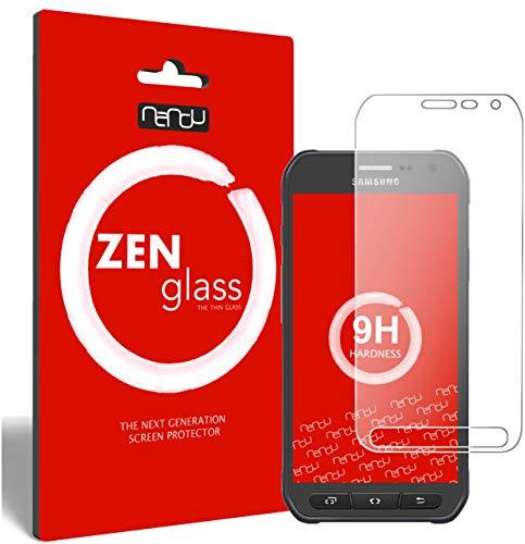 ZenGlass (2 Stück Flexible Glas-Folie kompatibel mit Samsung Galaxy S6 Active Panzerfolie I Bildschirm-Schutzfolie 9H