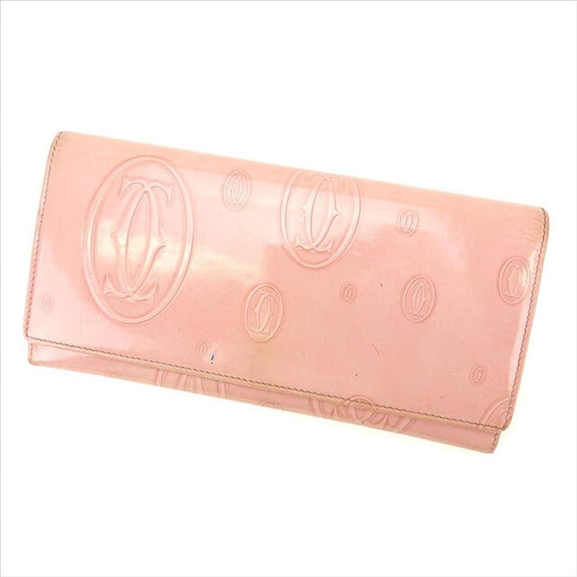 豊富に架空の視聴者カルティエ Cartier 長財布 レディース ハッピーバースデー 中古 T13553