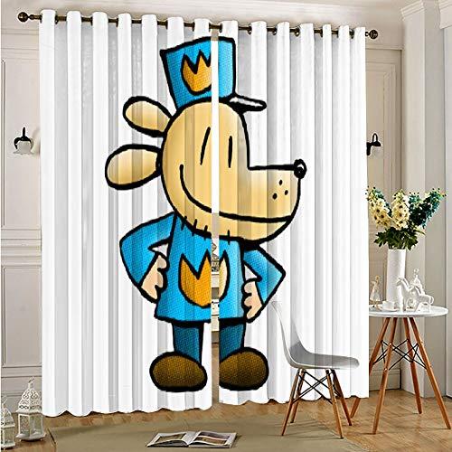 STTYE Cortina impermeable para ventana con ojales, para perro, 117 x 138 cm x 2 unidades