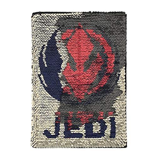 Cuaderno de tapa dura de Star Wars The Rise of Skywalker con lentejuelas, tamaño A5