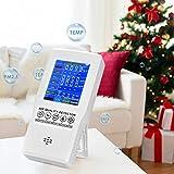 TOPQSC Medidor de Calidad de Aire formaldehído PM2.5 HCHO/TVOC/CO2 Monitor de Calidad del Aire Medidor de Calidad del Aire del Hogar Portátil Recargable para la Oficina en Casa Diversas Ocasiones