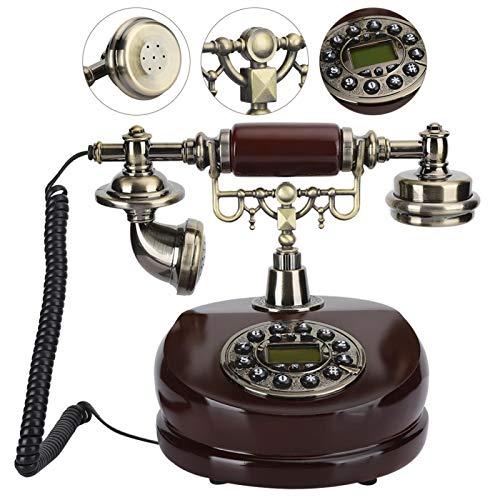 Longzhuo Teléfono Vintage, MYS-6200A Resina de Doble propósito Artesanía Antigua Decoración Dial Vintage Teléfono Europeo