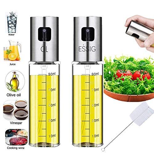 Nifogo Ölspender, Olivenölsprüher, Essig Spritzer Ölspender,Olivenölsprüher, Mit Skala Transparent Öl Sprayer, Verwendet für Tube Bürste für BBQ Brot backen Küche Kochen(100ML)