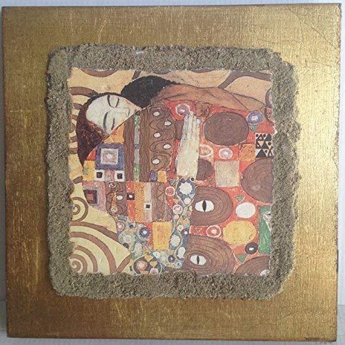 """Ars Martos - """"L'Abbraccio', Gustav Klimt. Riproduzione d'Arte in Affesco su Intonaco. Disponibile in varie misure e finiture."""