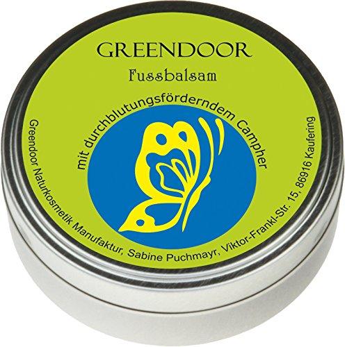 Greendoor Fussbalsam mit BIO Kakaobutter, echte 4,4 Sterne, jetzt den VERGLEICHSSIEGER kaufen, Fusscreme Schrundensalbe, 4 fache Ergiebigkeit, Naturkosmetik, natürlicher Fuß Balsam, Fuss-Pflege Creme