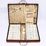 Hao-zhuokun Juego de Mahjong Chino,Mahjong portátil de Viaje Mahjongg,144 Hojas,Enviar Manual en inglés