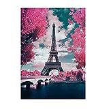 DIY 5D Pintura Diamante Kits, Torre Eiffel (Square drill 80x100cm/32x40in)Large Diamond Painting Full Drill,Crystal Rhinestone Bordado fotos arte Craft para la Decoración del hogar