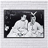 Laurel and Hardy Canvas Painting Friends Tv Show Poster Joey y Chandler Room Wall Art para la decoracin del hogar Imprimir en can vas-50x75cm Sin marco