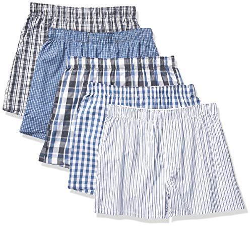 Amazon Essentials Men's 5-Pack Boxer Short, Blue Assorted, Small