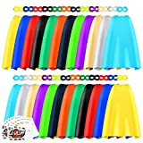 Superhero Capes and Masks, 24 Sets Bulk Pack DIY Super Hero Costume for Big Party, Dress Up Super Hero Capes Set with Stickers