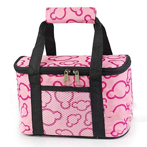 WERT Picknicktasche für 2 wasserdichte Trolley-Kühltasche für Männer Frauen Erwachsene Picknickrucksäcke für Urlaub im Freien,Pink-10L