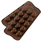 Silicone Heart Chocolate Mold, Candy Molds for Party, Wedding, Jelly, Heart Shaped Ice Cube, Pack of...