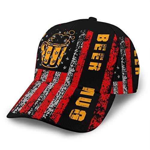 Gorra De Beisbol Jarra De Cerveza Sombreros De Hip Hop con Bandera Americana...