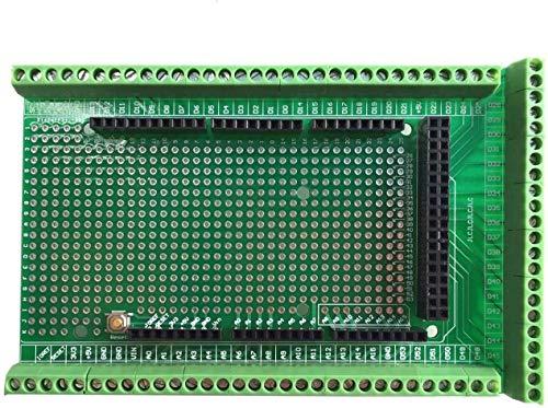 WINGONEER Prototype Screw/Terminal Block Shield Board Kit para Arduino Mega 2560 R3 DIY Soldado