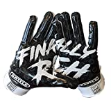 Battle Sports Finally Rich Receiver Gloves for Adults - Ultra-Tack Sticky Palm Pro-Style Gloves (Small)