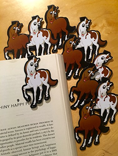 Horse Bulk Bookmarks (Set of 10) Animal Bookmarks for Kids! School Student Incentives– Library incentives– Reading Incentives- Party Favor Prizes- Classroom Reading Awards