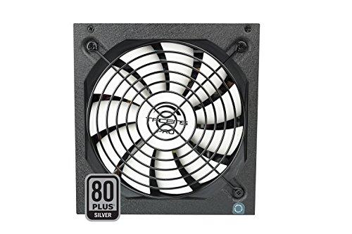Tacens 1RVIIAG800 - Fuente de alimentación para ordenador (800W, 87% de eficiencia, ATX, 12V, ventilador 14 cm, 80 Plus Silver, estándares ecológicos) color negro