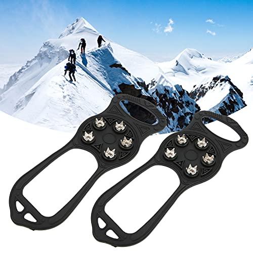 Clavos para Raquetas de Nieve, tracción Mejorada Material de Silicona Pinchos para Nieve Garra para montañismo para Zapatos de Talla 36-49 para Actividades de Senderismo
