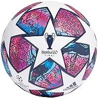 adidas Fin ist Pro Balón de Fútbol, Men's, Top:White/Pantone/Collegiate Royal/Bright Cyan Bottom:hi-Res Red s18/signal Green s20/silver Met, 5