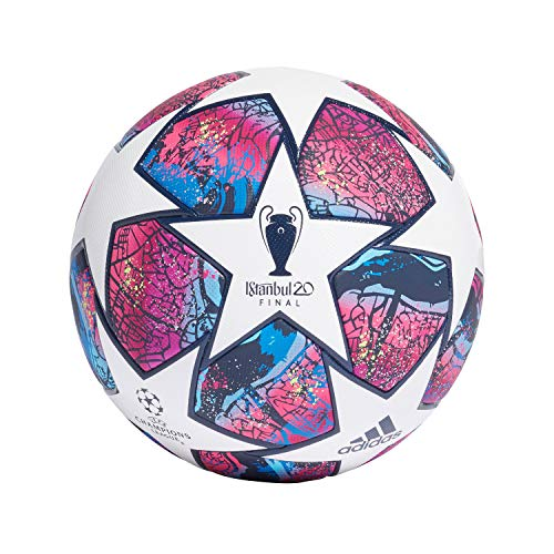 adidas Fin Ist PRO, Pallone da Calcio Uomo, Top:White/Pantone/Collegiate Royal/Bright Cyan Bottom:Hi-RES Red s18/signal Green s20/silver Met, 5