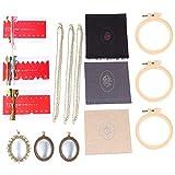 HEALLILY 3 Set Collar Kit de Bordado Aro de Bordado Colorido Bordado Hilo Dental Bandejas Colgantes Bordado Kit de Inicio Herramientas de Punto de Cruz