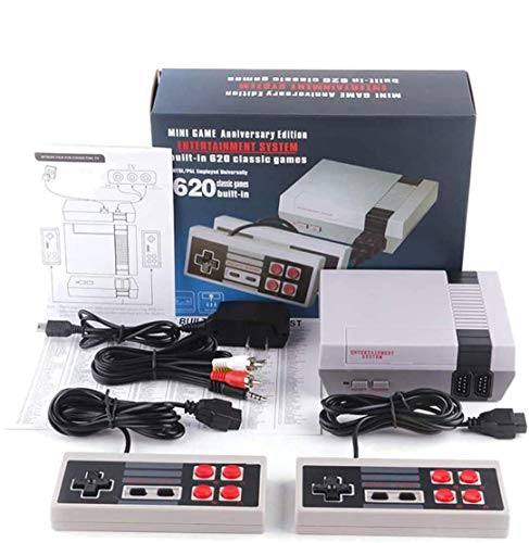 Classic Game Console,Built-in 620 Game with 2 Joysticks,AV Output Handheld Game Player Console for Family
