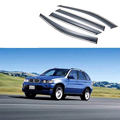 Lfldmj Visera de Ventana para Coche, deflectores de protección contra la Lluvia, Cubierta de embellecedor de toldo, Estilo Exterior para Coche, para BMW X5 E53 E70 F15 G05 1998-2020