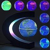DAMPOG Floating Globe, Multi-Color Ändernde C-Form Magnetschwebebahn Floating Globe-Weltkarte mit...