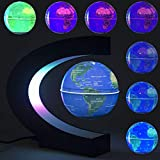 DAMPOG Globo Flotante, cambiante Forma de C Levitación magnética Globo Flotante Mapa del Mundo con Luces LED para niños Regalo Decoración de Escritorio de Oficina