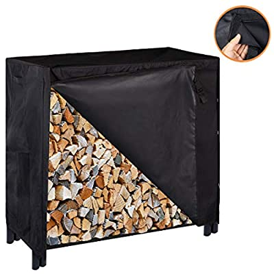 VIVOHOME Heavy Duty Waterproof Outdoor Firewood Log Rack Cover