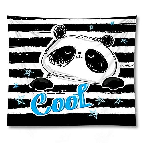 KHKJ Decoración del hogar 3D Adorable Panda Impreso Tapiz Arte de la Pared tapices Colgantes Alfombra Mantel A14 200x150cm