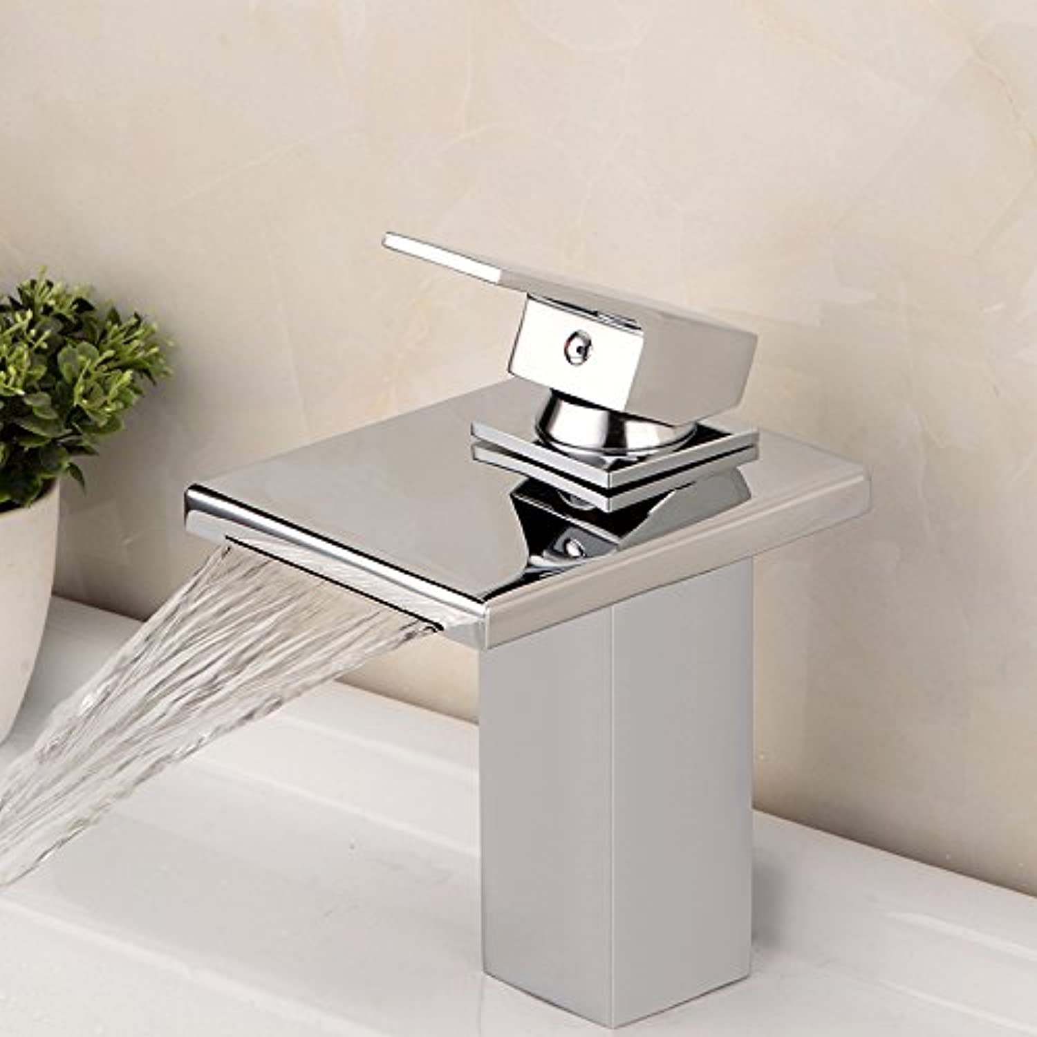 Mangeoo Waterfall, copper, hot and cold bathroom, bathroom, faucet