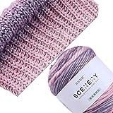YiFeiCT 100 g handgestricktes Kuchengarn mit Farbverlauf, buntes Häkelgarn zum Selbermachen, ideal für Pullover, Decken, Babykleidung, Einrichtung, Weben, Stricken und Häkeln