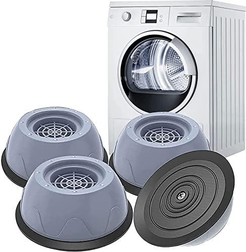 Qenovo 4 cuscinetti per lavatrice e asciugatrici, con piedini anti-vibrazione, in gomma antiscivolo, ammortizzatori per lavatrice e asciugatrici