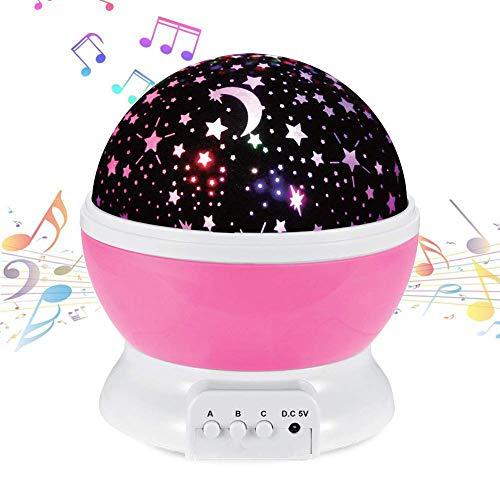 NEEGO Música Proyector Estrellas Bebe Luz de Noche Estrella Recargable Lampara Proyector...
