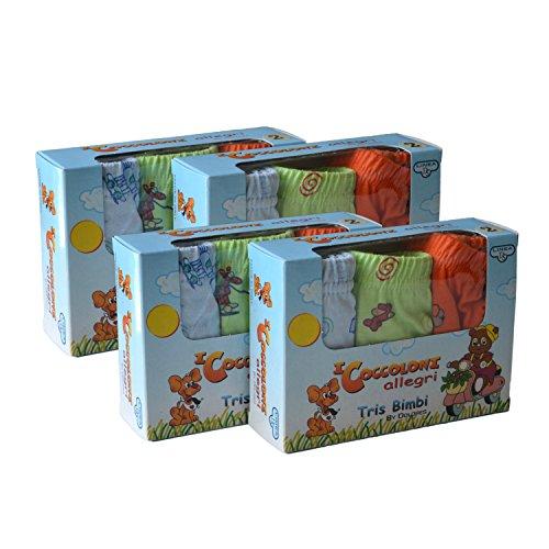 Slip intimo per bambini confezione da 6 100/% cotone Sunwbak