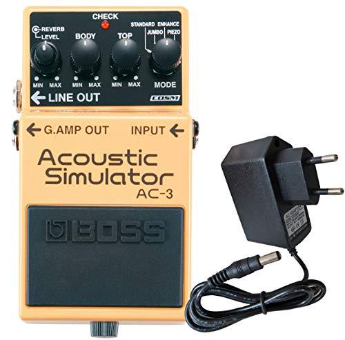 Boss AC-3 Acoustic Simulator Effektgerät für E-Gitarre + keepdrum Netzteil 9V