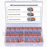 WiMas 60Pcs Premium Compact connettore, Morsettiera Cavo Connettore Rapido, Leva-Dado, connettore del Cavo Morsettiera Kit (2,3,5 Porta)