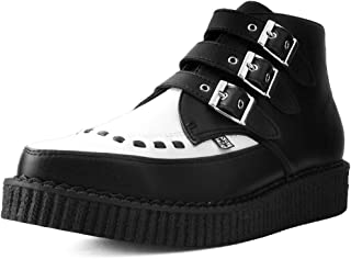 A9540 Unisex-Adult Boots, Black & White TUKskin 3-Buckle Pointed Creeper Boot