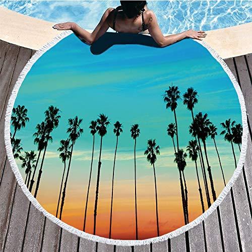 VSander Ronda De Vacaciones De Verano Viajes Borla Lado Toalla De Playa De Secado Rápido Asiento De Baño Cojín Mantón 150 * 150 Cm