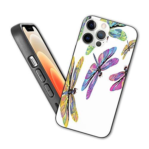 Compatible con iPhone 12 Series 2020 funda 60 inspirado alas coloridas primavera bosques animales animales patrón salvaje elementos para iPhone 12 Pro 6.1 pulgadas