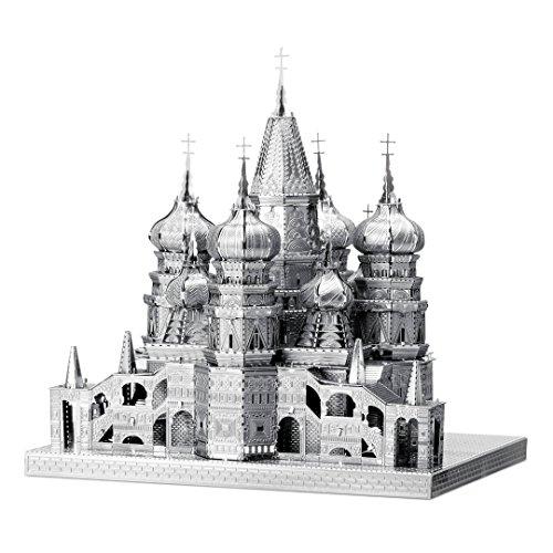 Fascinacao ICONX Kit de modelo de metal 3D da Catedral de Sao Basilio