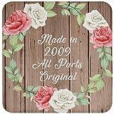 12th Birthday Made In 2009 All Parts Original - Drink Coaster B Posavasos para Bebidas, de Corcho - Regalo para Cumpleaños, Aniversario, Día de Navidad o Día de Acción de Gracias