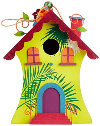 Small Foot by Legler Vogelhaus Hawaii mit süßen Verzierungen im paradiesischen Design, gemütliches Zuhause für alle Singvögel im Winter, mit kleiner Öffnung und schwenkbarem Verschluss, wunderschöne Gartendekoration zum Aufhängen - 6