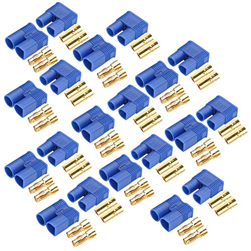 AYECEHI 10 Pairs EC3 Battery Connector Plugs EC3 Male Female 3.5mm Banana Plug Connectors Gold Bullet Connector for RC ESC LIPO Battery Device Electric Motor
