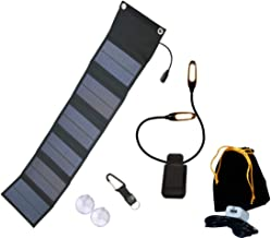 Never-Failing Book Light with Solar Charger — Must Have for Bookworms — The SuperB Ecologic Mart Lamp Plus 9W Solar Charger — Camping Reading Tool — Charge Cell Phone w Sun Power