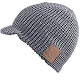 Mydeal Mens Womens Stylish Bluetooth Beanie Hat Cap with Wireless Bluetooth Headphone Headset Earphone Music Audio Hands-free Phone Call for Winter Sports Fitness Gym Exercise Workout Lifestyle - Gray